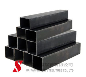 China Black Color Rectangular Steel Tubing ERW / Hot Rolled For Auto Parts distributor